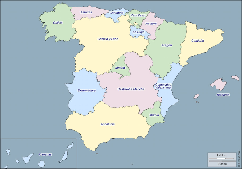 Bestuurlijke indeling van Spanje