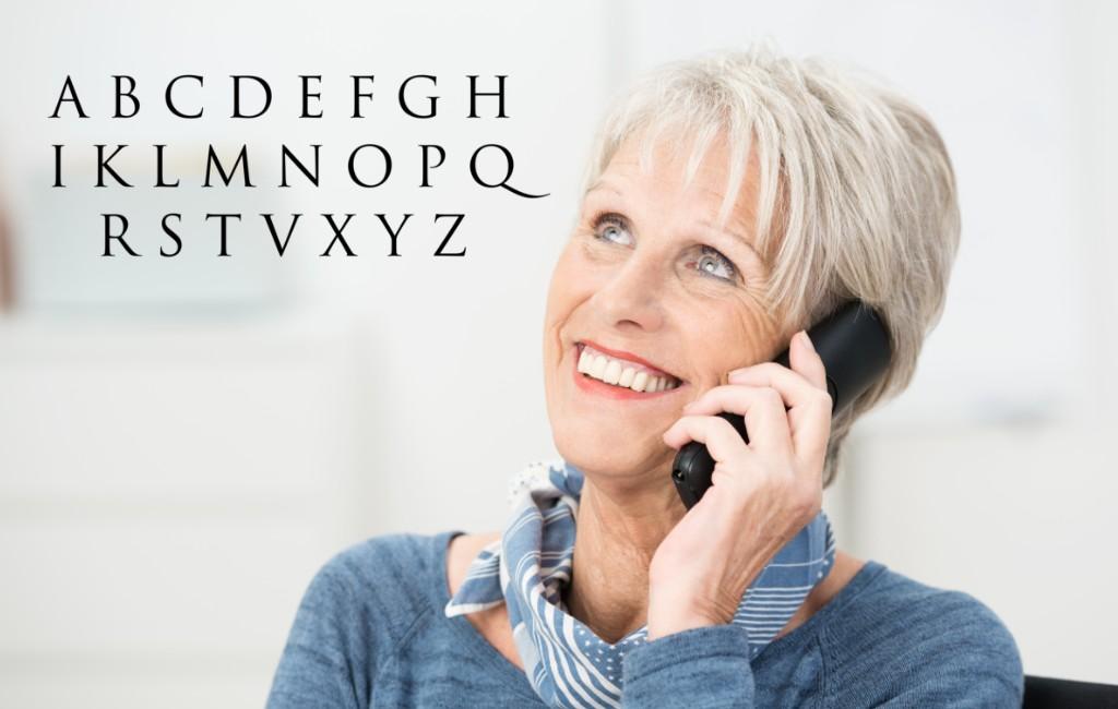Het Spaanse telefoonalfabet