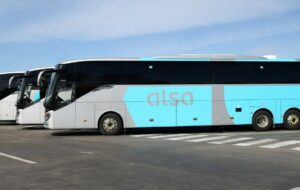 De lijndienstbussen van Alsa in Spanje