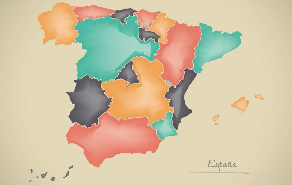 De grootste en kleinste deelstaten van Spanje op rij