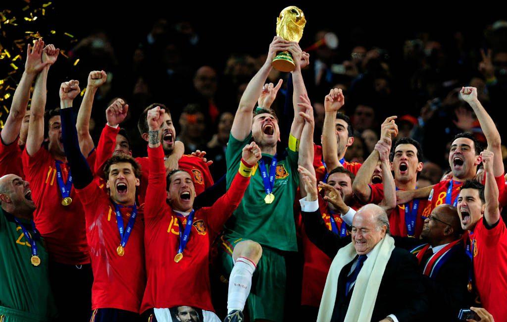 Wanneer werd Spanje wereldkampioen voetbal